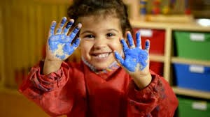 stock photo of child painting